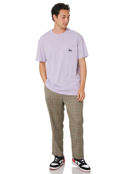 LILAC MENS CLOTHING STUSSY TEES - ST001012LILAC