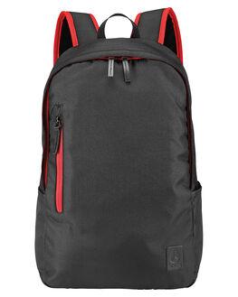 BLACK RED MENS ACCESSORIES NIXON BAGS + BACKPACKS - C2820008