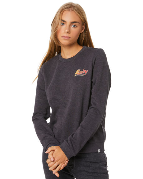 OIL GREY HEATHER WOMENS CLOTHING HURLEY JUMPERS - CT4726097