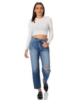 STONED BLUE WOMENS CLOTHING NEUW JEANS - 377871033