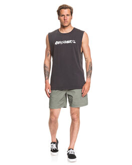 BLACK MENS CLOTHING QUIKSILVER SINGLETS - EQYZT05696-KVJ0