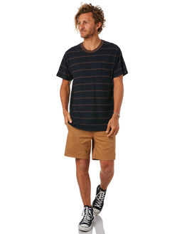 BLACK MENS CLOTHING AFENDS TEES - M183018BLK