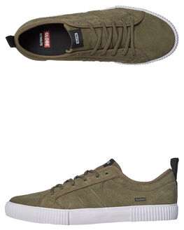 OLIVE WHITE MENS FOOTWEAR GLOBE SKATE SHOES - GBFILMORE-19096