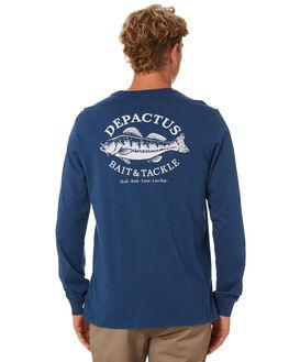 NAVY BLUE MENS CLOTHING DEPACTUS TEES - D5202100NAVY