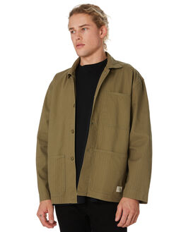 ARMY GREEN MENS CLOTHING THRILLS JACKETS - TW9-203FARMGN