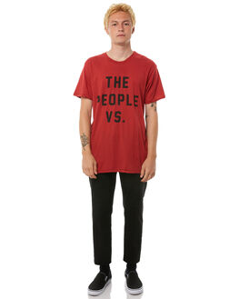 DUSTY RED MENS CLOTHING THE PEOPLE VS TEES - AW18016DRED