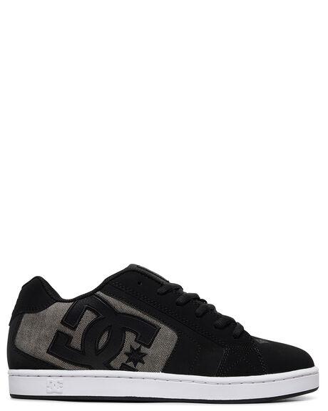 BLACK/GREY MENS FOOTWEAR DC SHOES SNEAKERS - 302297-BLG