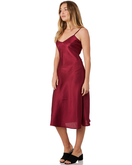 BERRY WOMENS CLOTHING LULU AND ROSE DRESSES - LU23736BERRY