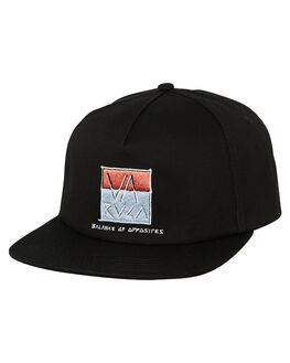 BLACK MENS ACCESSORIES RVCA HEADWEAR - R193566ABLK