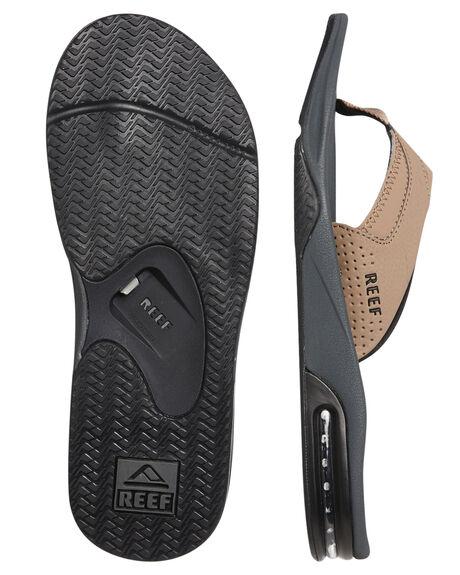 TAN BLACK MENS FOOTWEAR REEF THONGS - 2026TBT