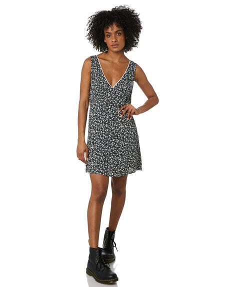 BLACK WOMENS CLOTHING THRILLS DRESSES - WTR20-903BBLK