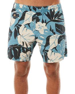 LEAF FLORAL MENS CLOTHING DEUS EX MACHINA BOARDSHORTS - DMP82019LEAF