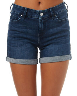 MOROCCAN BLUE WOMENS CLOTHING RIDERS BY LEE SHORTS - R-551340-EE1