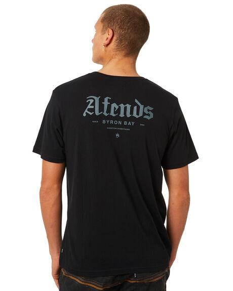 BLACK MENS CLOTHING AFENDS TEES - M184014BLK