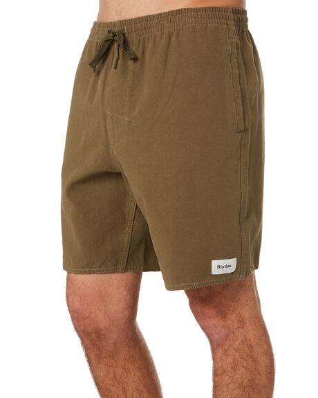 OLIVE MENS CLOTHING RHYTHM SHORTS - OCT19M-JM01-OLI