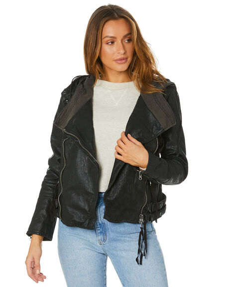 BLACK WOMENS CLOTHING FREE PEOPLE JACKETS - OB11657530010