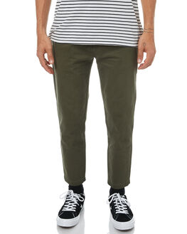 ARMY GREEN MENS CLOTHING THRILLS PANTS - TH7-402FARMY