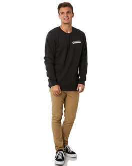 BLACK MENS CLOTHING THE CRITICAL SLIDE SOCIETY JUMPERS - FC1803BLK