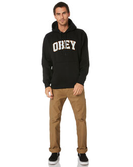 BLACK MENS CLOTHING OBEY JUMPERS - 112470083BLK
