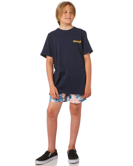 PINK KIDS BOYS OKANUI BOARDSHORTS - KSU19SW02PNK