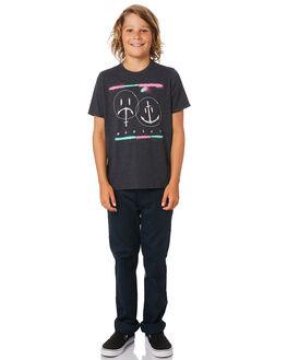 BLACK HEATHER KIDS BOYS HURLEY TOPS - BQ1503032