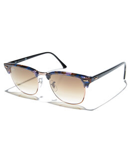 SPOTTED BROWN BLUE MENS ACCESSORIES RAY-BAN SUNGLASSES - 0RB3016SBRBL