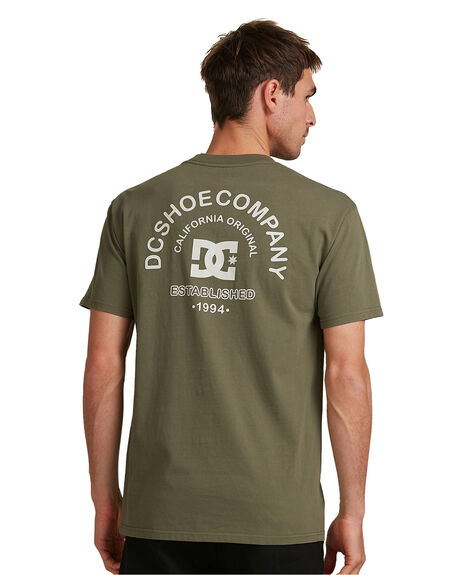 FATIGUE GREEN MENS CLOTHING DC SHOES TEES - UDYZT03783-CRB0