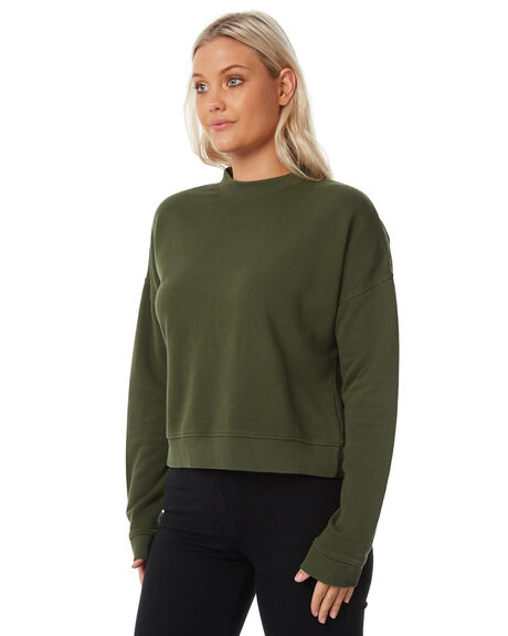 WASHED OLIVE WOMENS CLOTHING SWELL JUMPERS - S8183546WSHOL