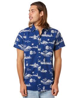 BLUE SPRINGS MENS CLOTHING DEUS EX MACHINA SHIRTS - DMS85660BLUSP