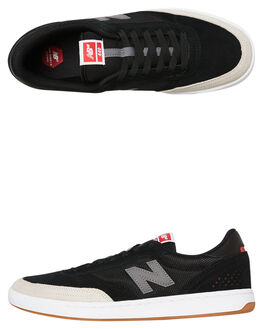BLACK GREY MENS FOOTWEAR NEW BALANCE SKATE SHOES - NM440BEL003