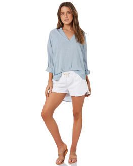 BLUE WOMENS CLOTHING RIP CURL FASHION TOPS - GSHZM30070