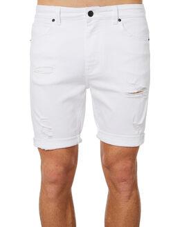 ROGUE WHITE MENS CLOTHING A.BRAND SHORTS - 809783117