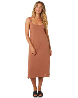 MAPLE BROWN WOMENS CLOTHING THE BARE ROAD DRESSES - 990341-07MAP