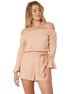 TROPICAL PEACH WOMENS CLOTHING ALL ABOUT EVE PLAYSUITS + OVERALLS - 6423063PEAC