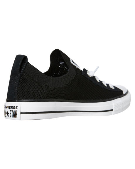 BLACK WOMENS FOOTWEAR CONVERSE SNEAKERS - 565489CBLK