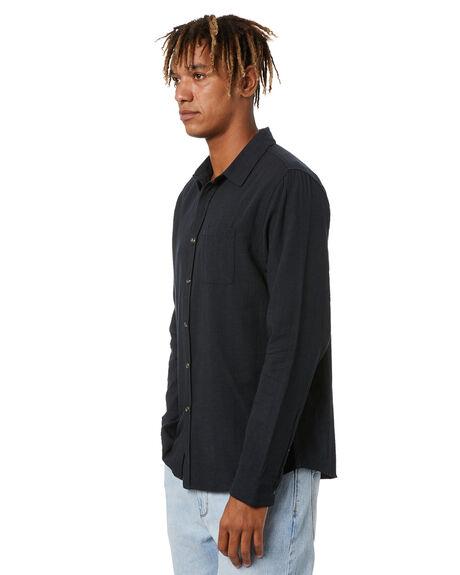 WASHED BLACK MENS CLOTHING RUSTY SHIRTS - WSM0987WBA