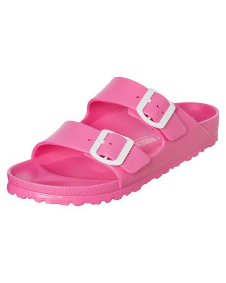 NEON PINK WOMENS FOOTWEAR BIRKENSTOCK FASHION SANDALS - 129533NPNK