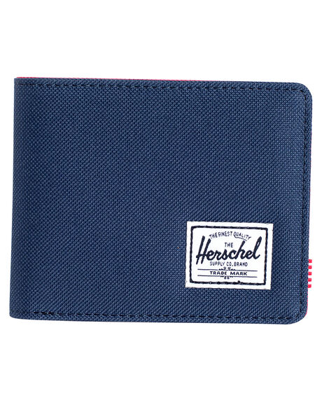 NAVY RED MENS ACCESSORIES HERSCHEL SUPPLY CO WALLETS - 10069-00018-OSNVRD
