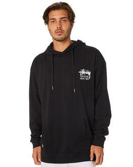 BLACK MENS CLOTHING STUSSY JUMPERS - ST095107BLACK