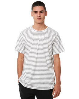WHITE MENS CLOTHING ACADEMY BRAND TEES - 18W402WHT