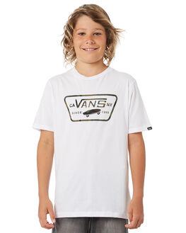 WHITE CAMO KIDS BOYS VANS TEES - VNA2WQQATAWHCAM