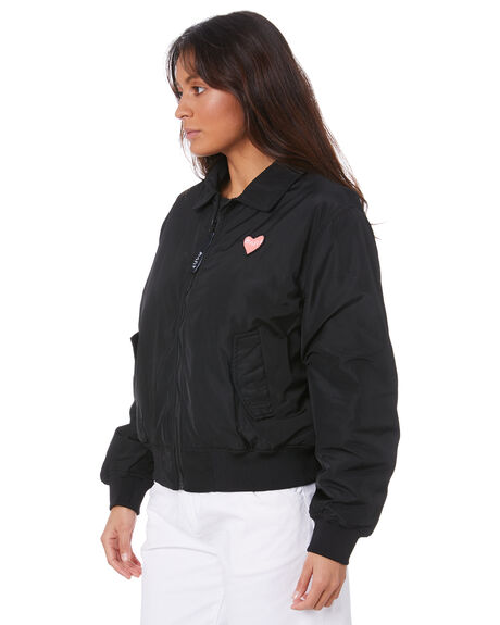 BLACK WOMENS CLOTHING MISFIT JACKETS - MT105701BLK