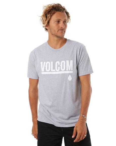 HEATHER GREY MENS CLOTHING VOLCOM TEES - A35417V4HGR