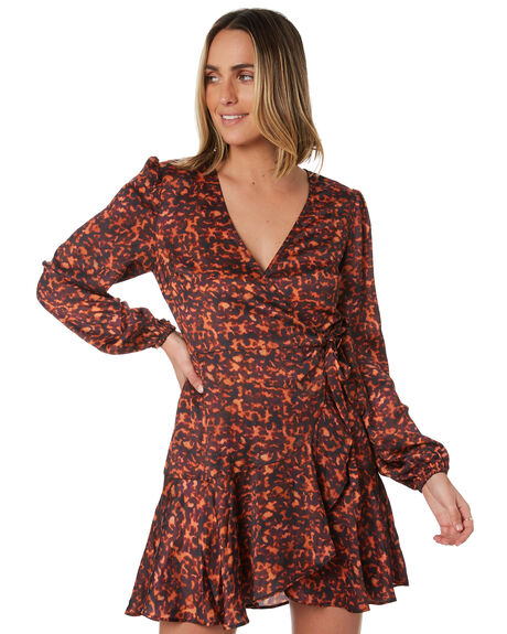 TORTOISE OUTLET WOMENS MINKPINK DRESSES - MP1910456TORT