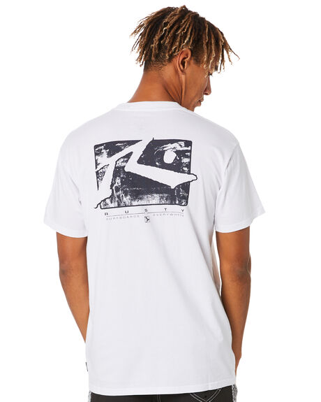 WHITE MENS CLOTHING RUSTY TEES - TTM2488WHT