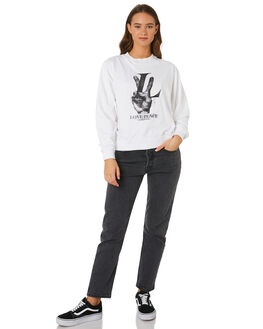 WHITE WOMENS CLOTHING THE PEOPLE VS JUMPERS - AW19W036WHT