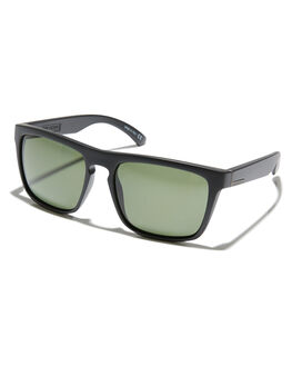 MATT BLACK GRN POLAR MENS ACCESSORIES QUIKSILVER SUNGLASSES - EQYEY03022XKGG