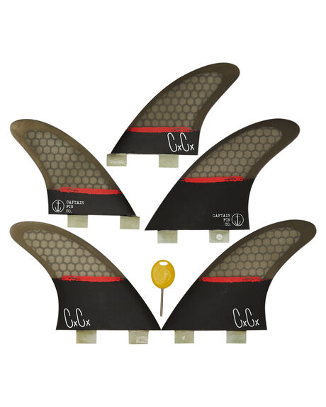 BLACK BOARDSPORTS SURF CAPTAIN FIN CO. FINS - CFF3211700BLK