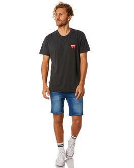 BLACK MENS CLOTHING WRANGLER TEES - 901255602