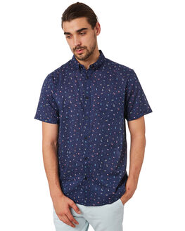 BLUE COMBO MENS CLOTHING ACADEMY BRAND SHIRTS - 19S842BCOM